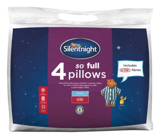 Silentnight So Full Pillows (4 pack) £13.99 @ Robert Dyas - Free c&c