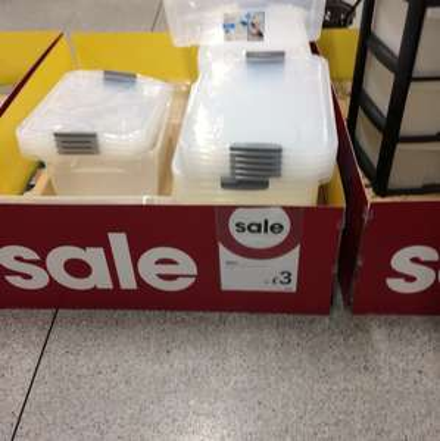 Cheap storage boxes - £3 instore @ wilko