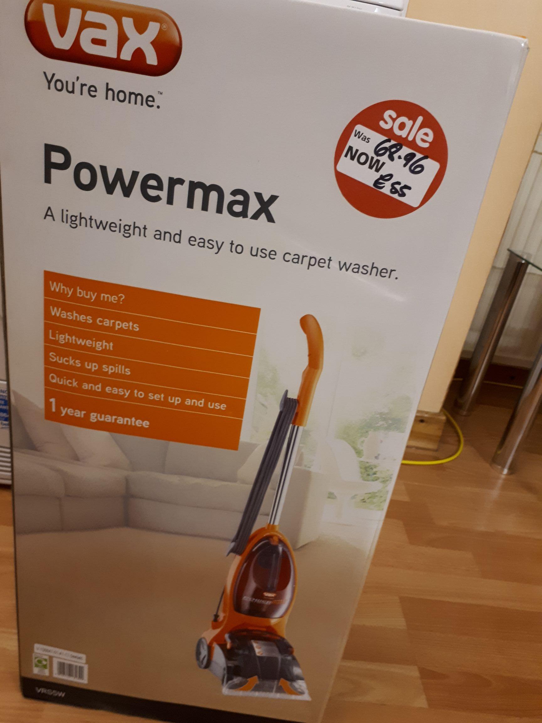 Vax carpet cleaner - £55 instore @ Asda