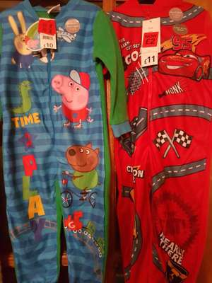 £2 lightning mc queen and Peppa pig onsie  instore - Aberdare Asda