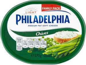 Philadelphia Original Soft Cheese (280g) Half Price Was £2.40 Now £1.20 and other Varieties as stocked @ Tesco