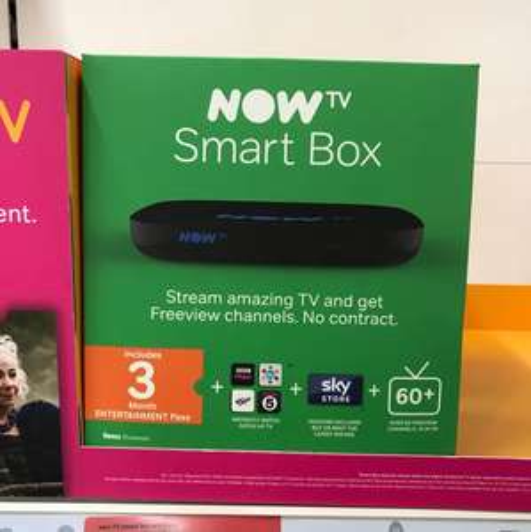 Now TV smart box + 3 months entertainment pass instore £25 Sainsbury's