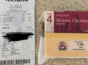 Iceland 180g of cheese for 50p instore