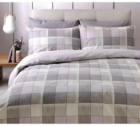 Brushed Cotton Double Duvet Pillow Set 8 49 Argos C