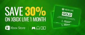 30% off 1 month Xbox Live £5.28 at PCGameSupply (US accounts)