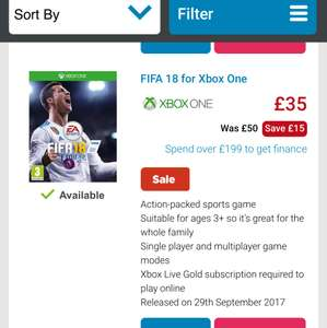 Fifa 18 price matched Microsoft £3O includes next day delivery. @ AO