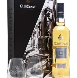 3rd best whisky in the world back in stock! Glen Grant 18 Year Old Glass Pack  £120 @ Whisky Exchange