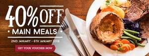 40% off @ Toby Carvery