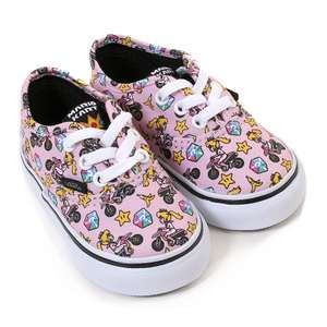 Nintendo Princess Peach/Motorcycle kids shoes - £20.80 delivered / Kids Vans X Peanuts Classic Slip on shoes £22.40 @ Vans