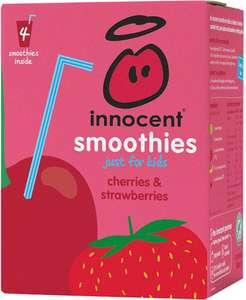 Innocent Smoothies for Kids Cherry & Strawberry (4x180ml)  Sainsbury's £3.00 £1.50