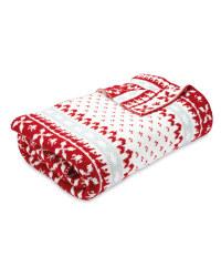 Kirkton House Nordic Throw/Blanket Was £19.99 now £9.99 @ Aldi