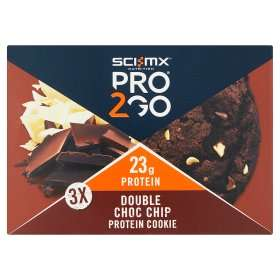 Sci-Mx Pro2Go Double Choc Chip Protein Cookie (3 pack, £2.75 @ ASDA)