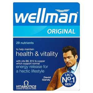Vitabiotics Wellman Original Tablets  @1/2 price £3.14 @ Superdrug