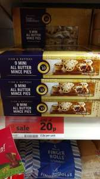 taste the difference mince pies @ 20p ladbroke grove & westbourne grove sainsburys