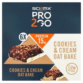 SCI-MX Nutrition Pro2Go Cookies & Cream Oat Bake (6x for £3 at ASDA)
