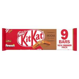 KitKat 9 2 finger packs for £1@ Morrisons.