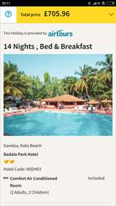 From LGW: Last minute two week Gambia holiday, Inc Flights, hotel on B&B basis & transfers £705.96/£176.49pp @ Thomas Cook
