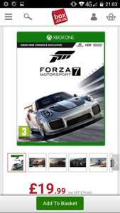 Forza motorsport 7 Xbox One - £19.99 (+£2.95 P&P) @ Box.co.uk