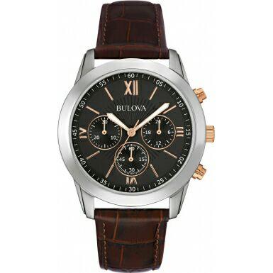 Bulova mens dress brown leather chronograph watch £59 @ Watches 2 U