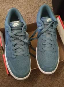 Nike Dunk retro low Smokey blue suede leather  mens trainers at £12.50 bargain @ Junction 32 at Castleford