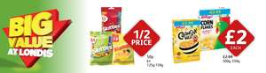Skittles or starburst 125g-150g now 50p @ Londis