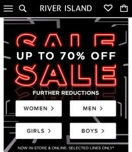 Now Up to 70% Off RIVER ISLAND SALE. Men's tees from £2