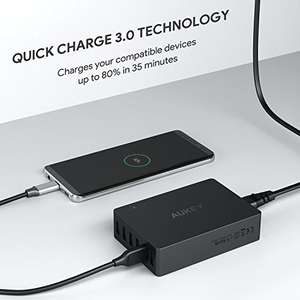Quick Charge 3.0 Aukey 60 watt charger £16.99  (Prime) / £20.98 (non Prime)  Sold by yueying and Fulfilled by Amazon - lightning deal