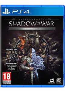 Middle-Earth Shadow of War Silver Edition with Steelbook and DLC [PS4/XO] £29.85 @ Base