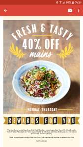 40% off Mains Monday to Thursday at Jamie's Italian for Gold Club members (free to join)