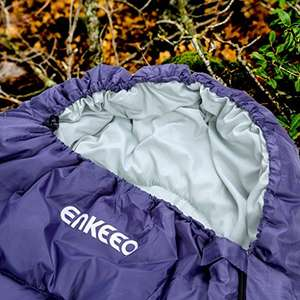Enkeeo Envelope Sleeping Bag Waterproof Large Lightweight Warm with Pocket Pillow and Hollow Cotton £6.99 (Prime) / £11.74 (non Prime)  Sold by ENKEEO UK and Fulfilled by Amazon.