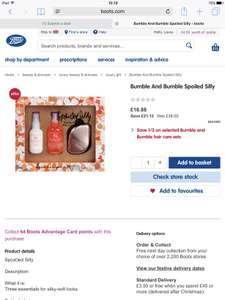Bumble And Bumble Spoiled Silly Gift Set Was £38 Now £16.88 (worth over £60) at Boot Online