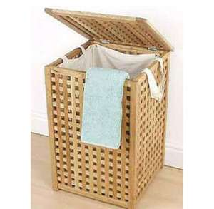 Solid Wood Laundry Bin - Reduced to £20 from £45 @ Homebase