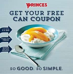 FREE can coupon for Princes Peach Slices with Juice, Princes Mango slices with juice or Princes Mandarins with juice.
