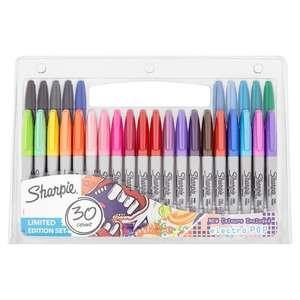 Sharpie Fine Permanent Marker Pens Limited Edition 30pk £6 @ Tesco Direct (free c+c)