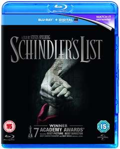Schindler's List blu ray £4.50 with code @ Zoom