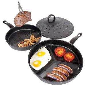 3 in 1 Divide Wonder Pan Set Non Stick Skillet £7.98 Delivered @ eBay/gets-u-goin