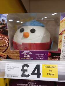Free From  cake £4 at Tesco instore Stockport