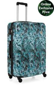 REVELATION! BY ANTLER - EDEN AS LARGE SUITCASE PATTERN GREEN WAS £79.00 NOW £29.00