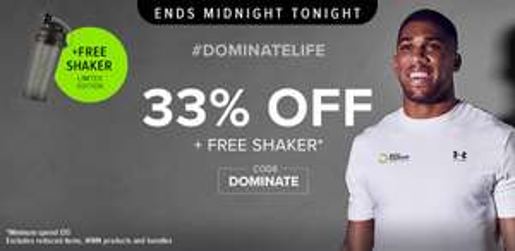 33% off everything & a free shaker @ BulkPowders