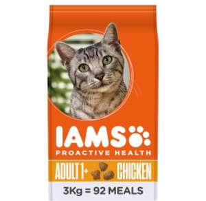 Iams 3kg cat food half price - £7.55 @ Waitrose