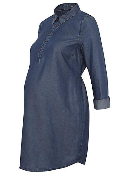 Maternity Denim Look Shirt Dress sizes 10 -18 was £16 now £8 C+C @ Asda George