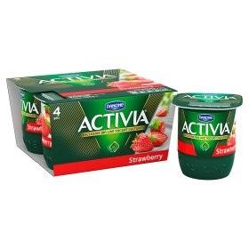 Activia Yogurts, 4 x 125g £1 @ Tesco and Sainsburys Online/Instore