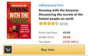 Running with the Kenyans (Kindle) by Adharanand Finn, £0.99p