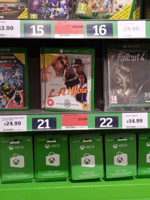 L.A Noire (X1 and PS4) - £24.99 at Sainsbury's Nottingham Basford