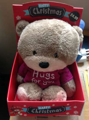 Hugs For You Teddy Bear - 75% off (was £4.99) now only £1.24 instore @ Card Factory