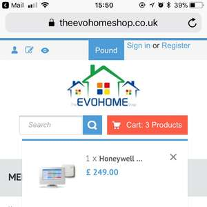 Honeywell Evohome WiFi Thermostat and 8 TRVs £496.84 @ The Evohomeshop