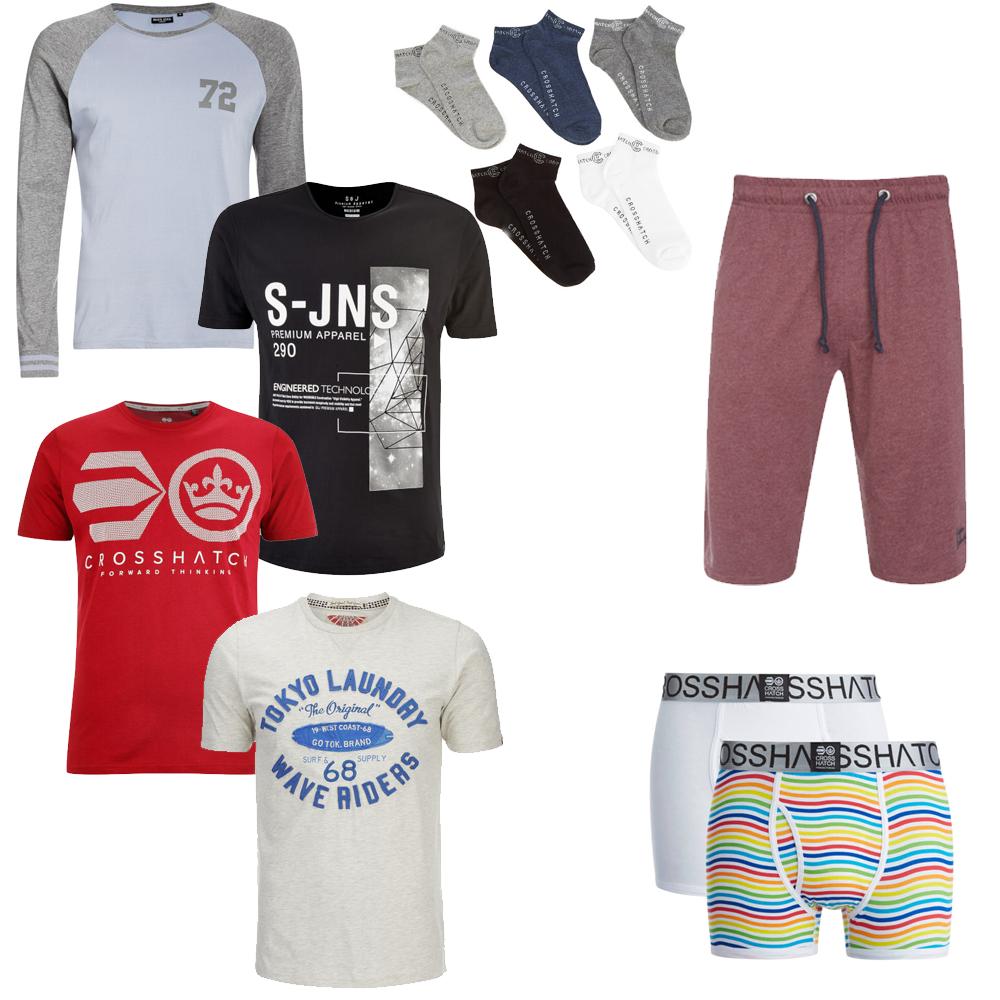 10 Clothing items for £40 - T-Shirts / Underwear / Lounge Shorts / socks [Mix & Match] @ Zavvi