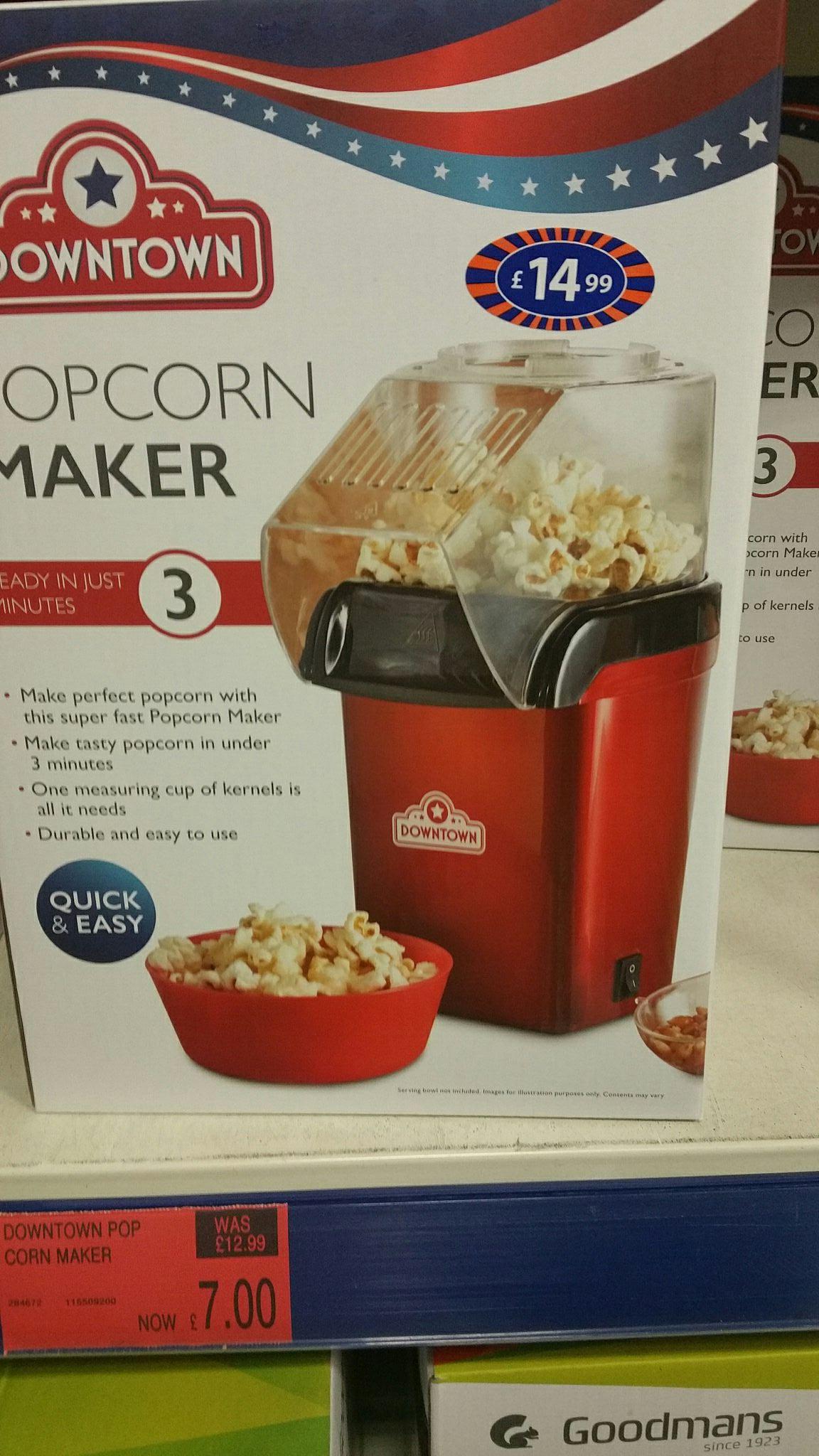 Popcorn Maker £7 at B&M