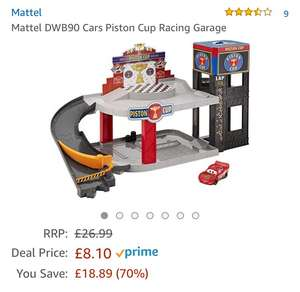 Disney Cars 3 piston cup racing garage £8.10 prime / £12.85 non prime @ Amazon