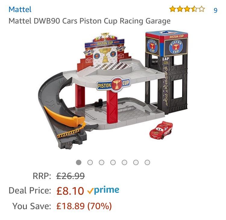 Disney Cars 3 piston cup racing garage £8.10 prime / £12.85 non prime @ Amazon